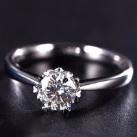 fashion ring moissanite ring 18k white gold rings for wedding