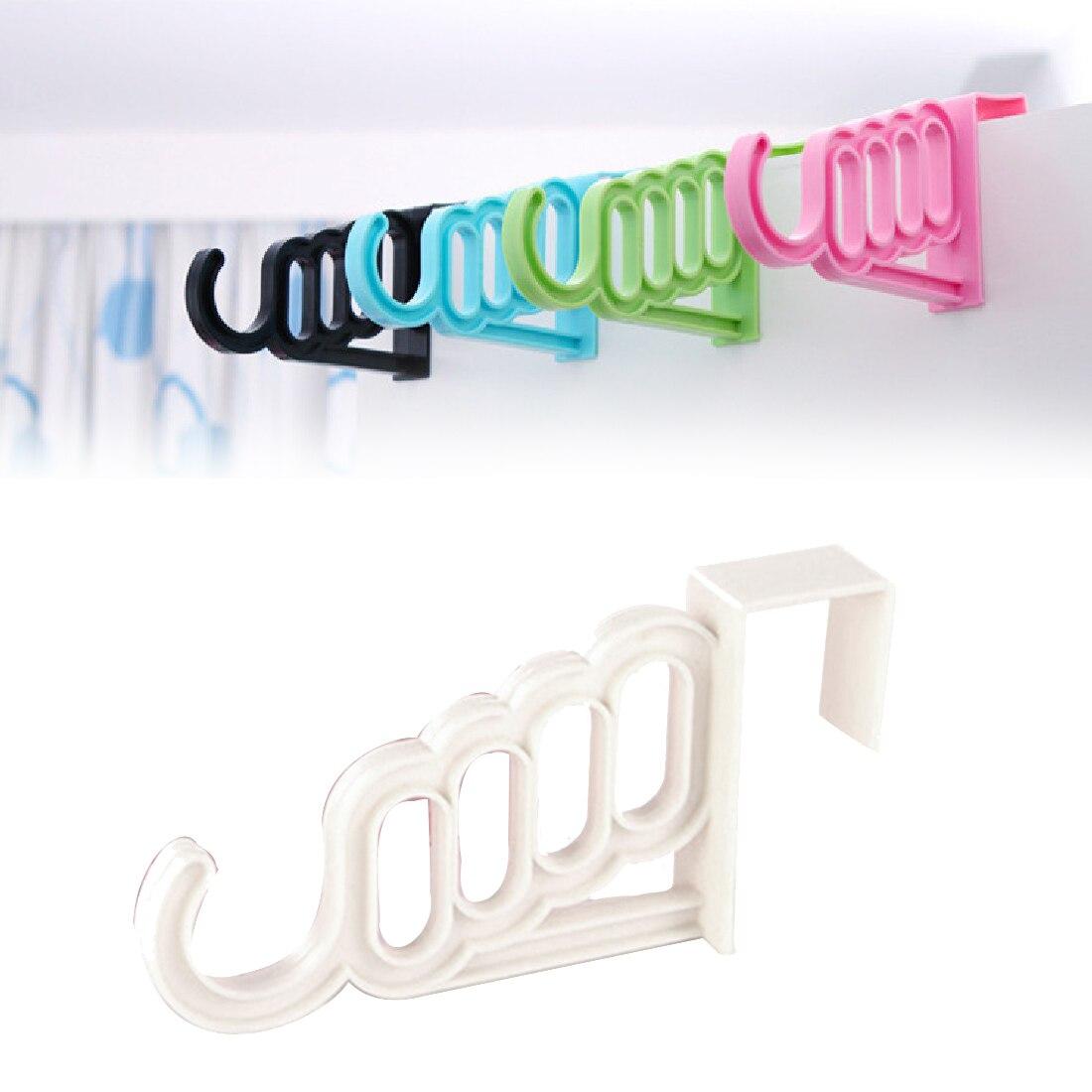 Cintre de séchage 5 trous pour salle de bain   Accessoires pour la maison multifonctions vêtements pliables étagère de séchage 5 trous, organisateur de porte de salle de bains en plastique