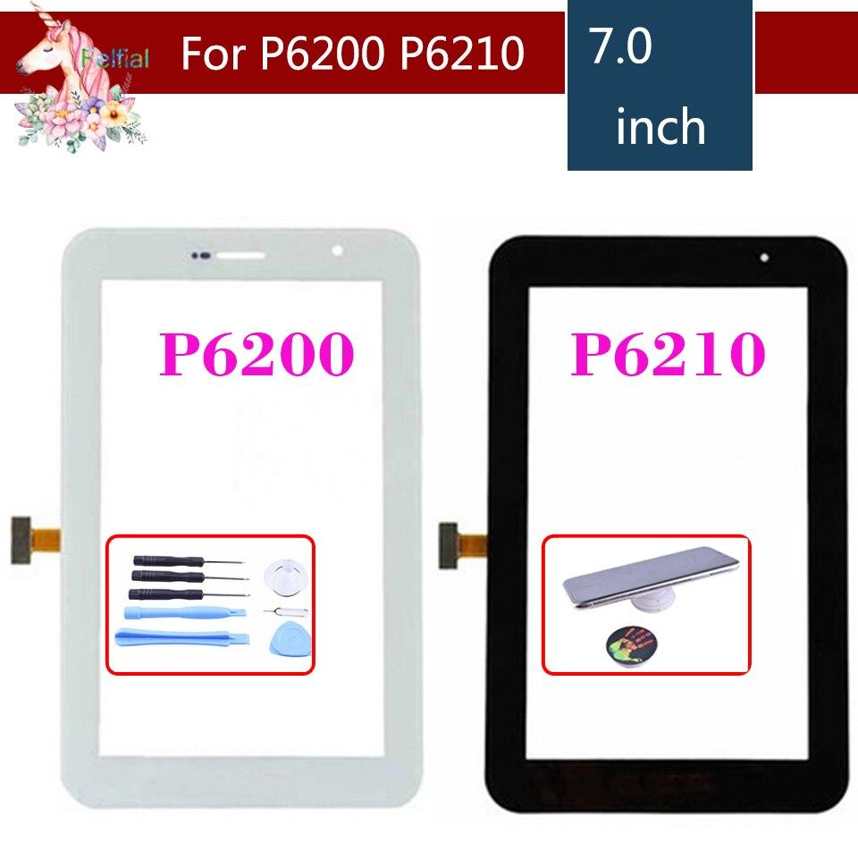 "Original 7,0 ""para Samsung Galaxy Tab 7,0 Plus P6200 y P6210 Digitalizador de pantalla táctil Panel Sensor Replacement"