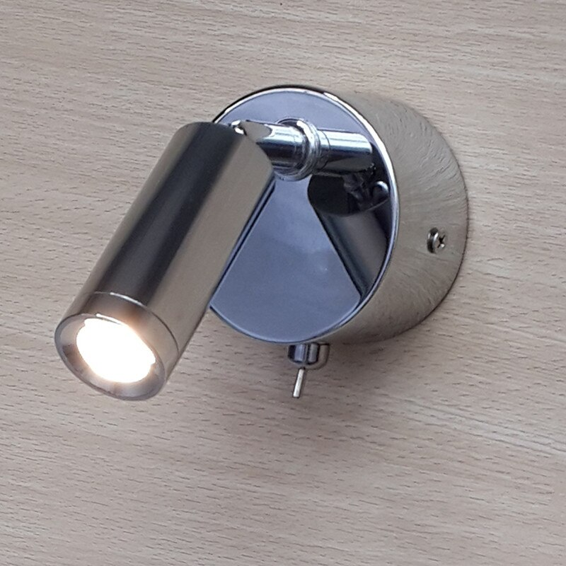 Foco Flexible LED de Topoch con cable de aluminio, cabeza cilíndrica, lente de enfoque 30 grados cromo acabado 3W CREE LED 200LM