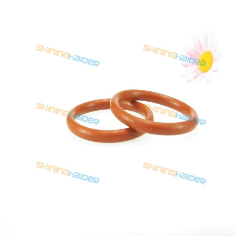 50 PCS 4mm diâmetro exterior diâmetro do fio OD38 39 40 41 42 43 44 45 46 47 48mm a cor vermelha de silicone O anel de silicone O anel de vedação