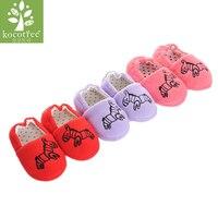 Kocotree Baby Boy Girl Winter Warm Home Shoes Newborn Soft Sole Anti-slip Slippers Cute Zebra Cotton Kid Slipper 12-16 cm