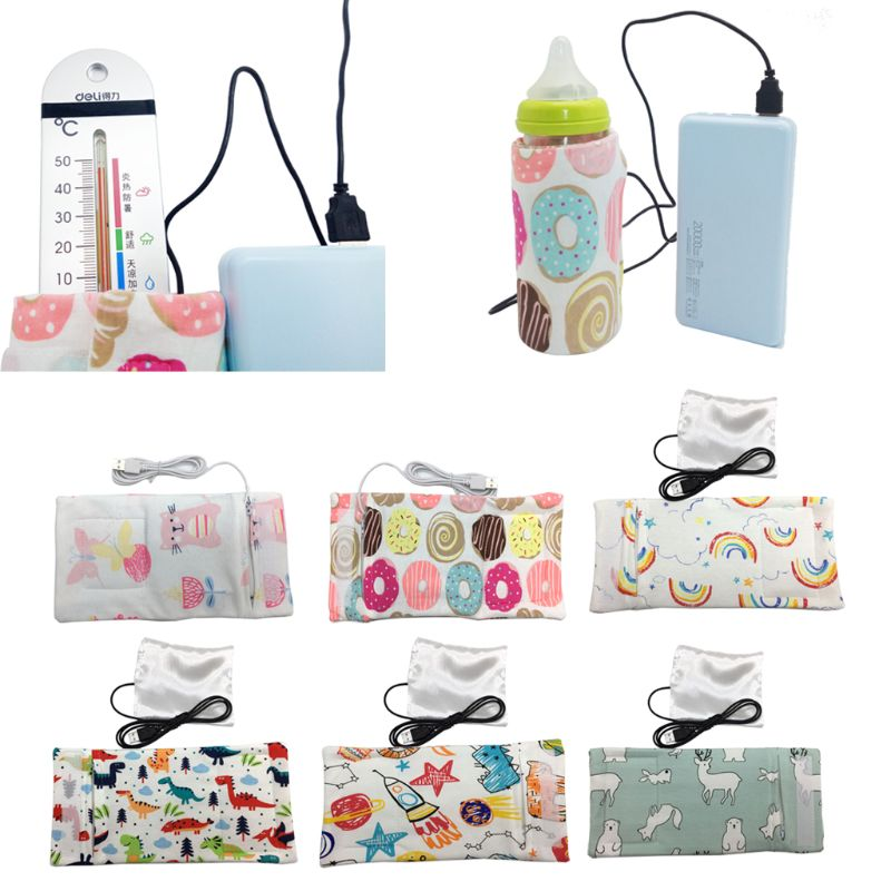 10 Colors Travel Stroller Bag USB Milk Water Warmer Insulated Bag Baby Nursing Bottle Heater 28.0cm*13cm