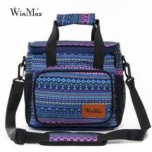 Winmax sac à déjeuner isolé grande capacité sac de boîte à déjeuner réutilisable école de travail sac isotherme Portable avec bandoulière détachable