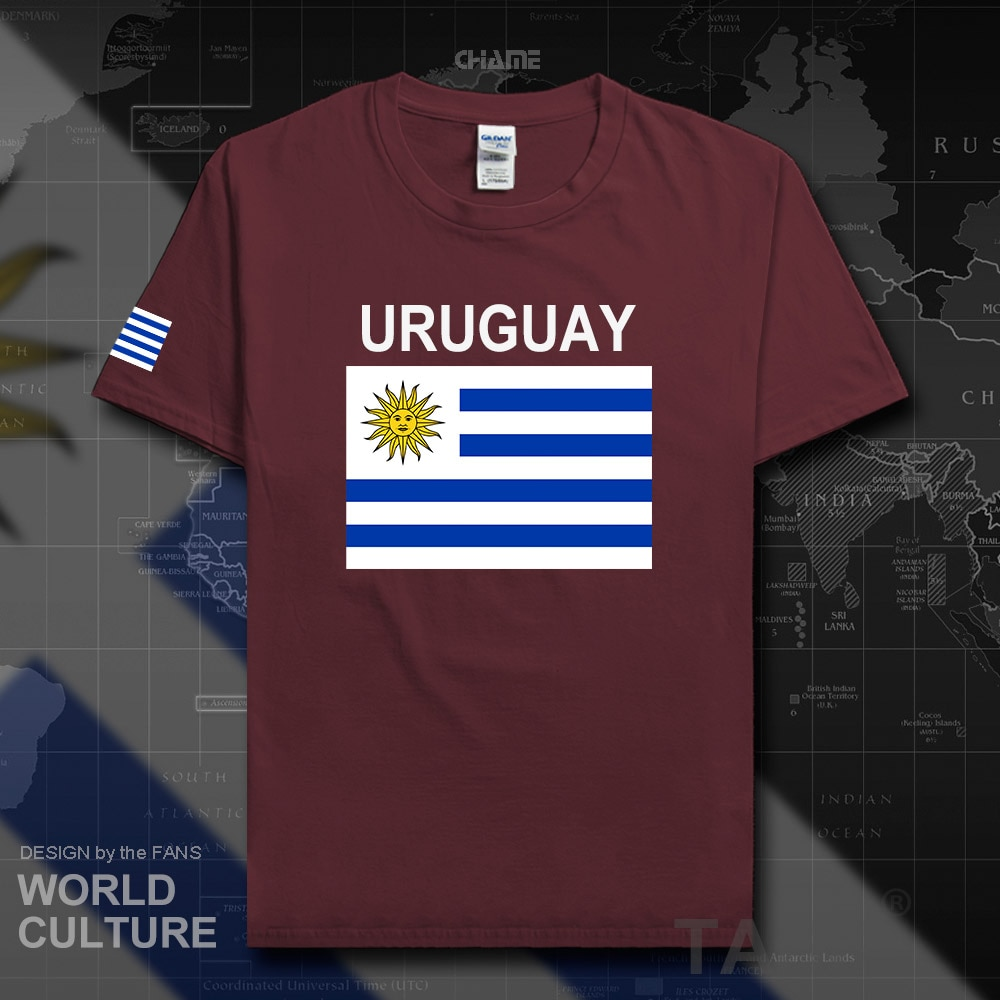 Uruguay men t shirts 2017 jerseys nation team tshirt 100% cotton t-shirt gyms clothing gyms tees country sporting URY Uruguayan