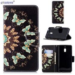 Para Nokia 2.1 Bonito Dos Desenhos Animados Da Aleta Carteira Caso Cabido para Nokia 2 2018 Slot Para Cartão de Telefone Bag TA-1092 TA-TA 1093-1084 Capa De Couro