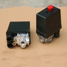 Vanne de contrôle de pression de compresseur   1 pièce 5-8kg 1 Phase 220-240V 15A 175PSI 12Bar 4Port 1/4 NPT 3 phases 380V 20A