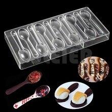 Löffel Form Polycarbonat Schokolade Form gebäck süße Candy Mould Kunststoff Backen Pc süßwaren Form Kuchen Dekorieren Werkzeuge