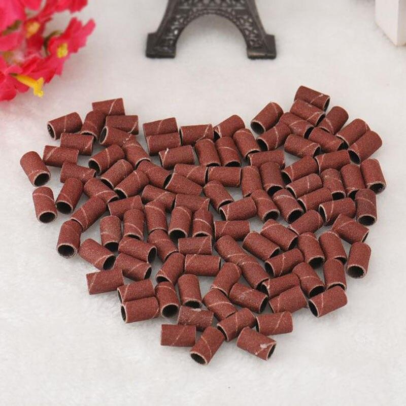 100 Uds bandas de lijado tambores mangas 80 lijadoras mandriles para herramienta dremel decoración de uñas Y505