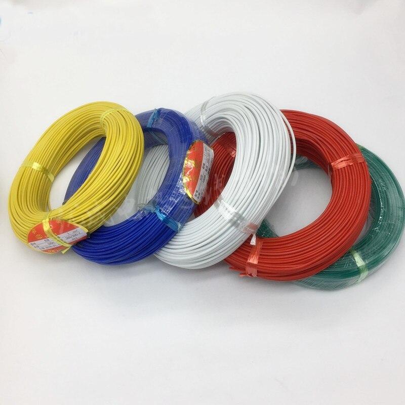 Envío Gratis 20M de alta temperatura de cable de silicona 0,3, 0,5, 0,75 1 1,5 2 plaza 18AWG 20AWG de alambre de alta calidad 3 hilos