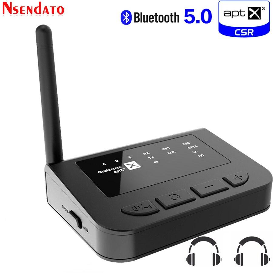 جهاز إرسال صوتي لاسلكي aptx ، مستقبل صوت 3.5 مللي متر ، HD ، بلوتوث 5.0 ، CSR8675 ، محول تلقائي للتلفزيون ، السيارة ، aptX ، HD LL ، زمن انتقال منخفض