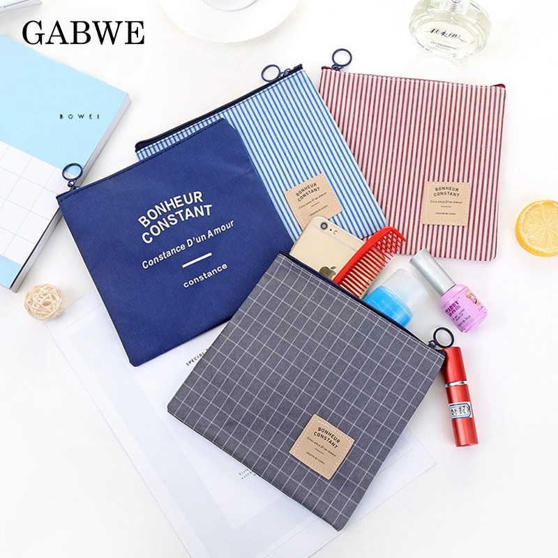 GABWE, bolsa de maquillaje de viaje con cremallera para mujer, bolsa organizadora de cosméticos para mujer, neceser pequeño, bolso de belleza, bolso, bolsas de maquillaje