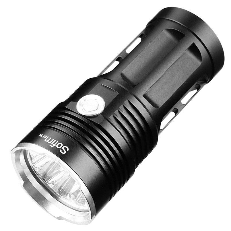 14 * xml t6 poderosa lanterna led 18650 led luz da tocha 18650 lanterna tática searchlight 5 modos de caça linterna acampamento