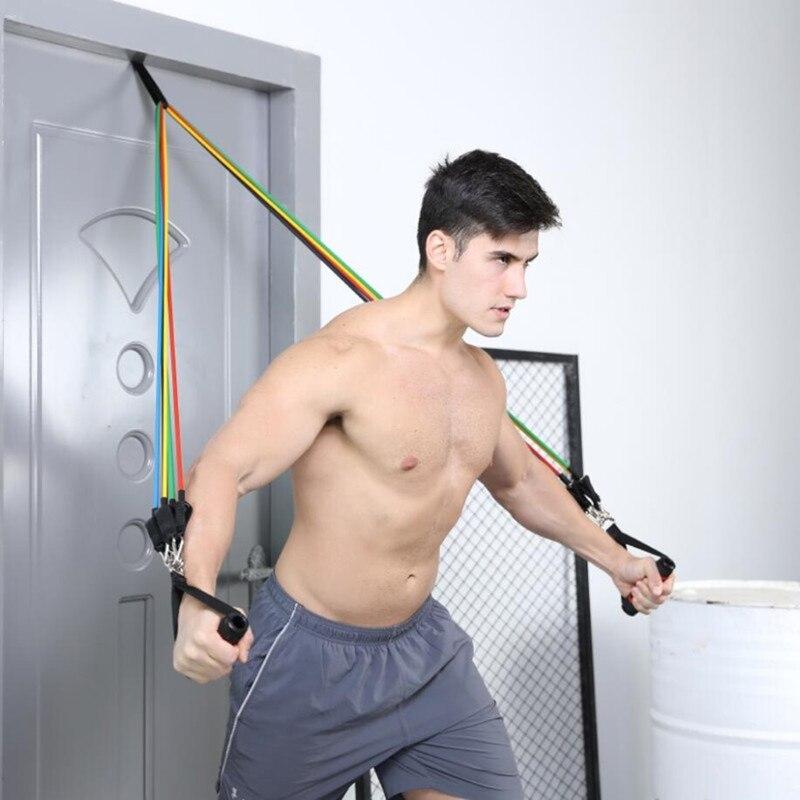 1PC Fitness bandas elásticas de resistencia actividad física yoga pilates tubo de látex formación puerta ancla elástico bandas Accesorios