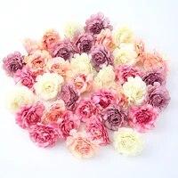 Tetes de roses artificielles en soie  5CM  10 pieces lot  pour decoration de mariage  de jardin  de maison  couronne artisanale  pour noel
