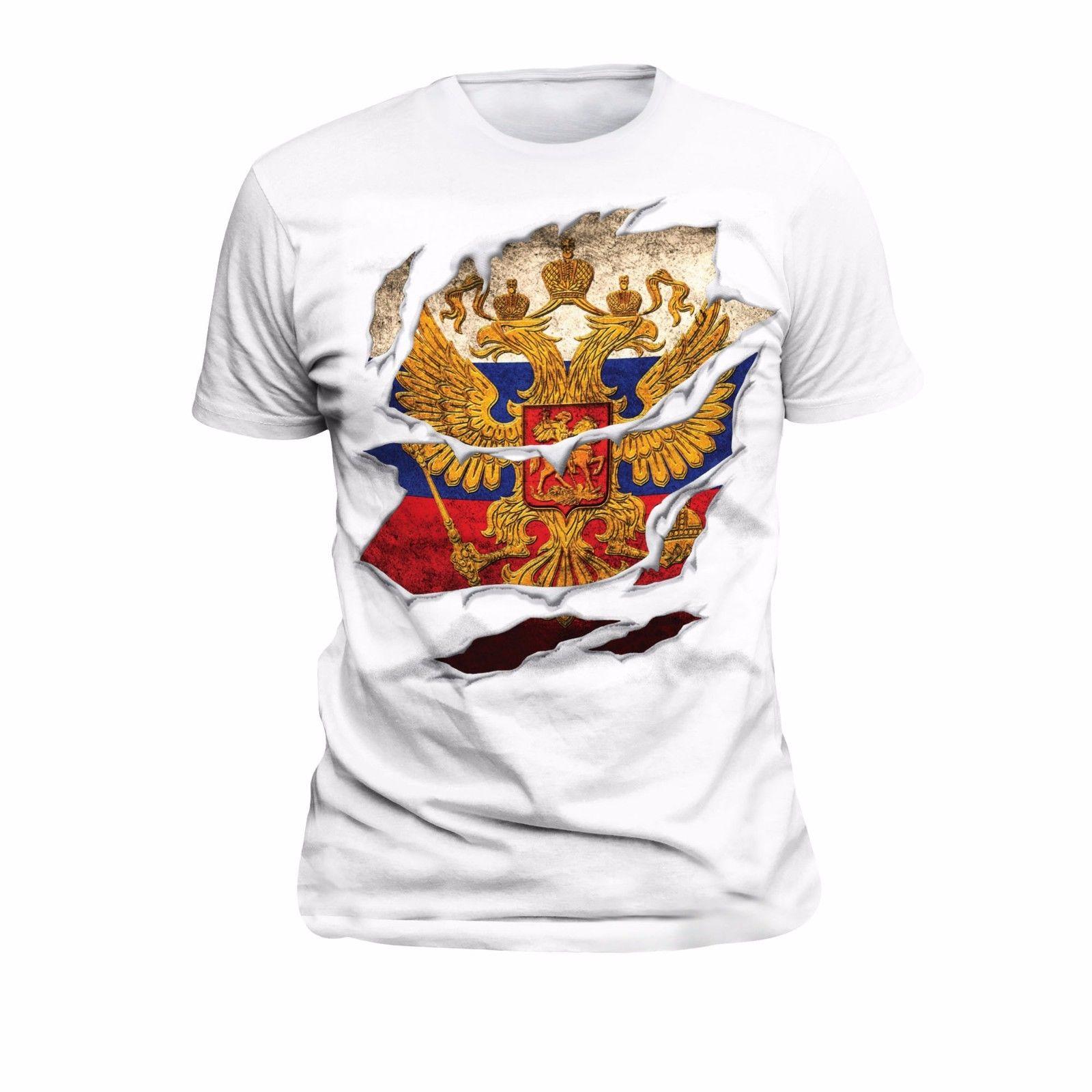 ¡Novedad de 2019! Camiseta fresca de verano, Camiseta de algodón 10 de Rusia
