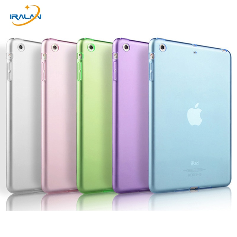 Funda de silicona blanda para Apple iPad Air para iPad 5, A1474, A1475, A1476, funda protectora trasera transparente de TPU + stylus pen
