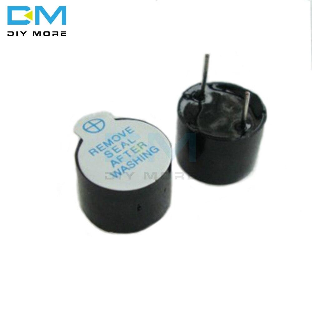 5 uds. Zumbador activo magnético de tono de pitido largo continuo alarma Ringer MINI zumbadores piezoeléctricos activos aptos para Arduino 12mm 5v