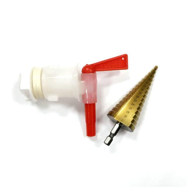 Taladro de cubo embotellado casero con espiga de plástico 4 mm ~ 32 mm paso Taladro