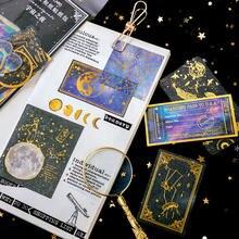 60pcs/pack Bronzing Vintage Decoration Stickers Retro Renaissance Map Postmark DIY Diary Album Scarpbooking Index Lable Sticker