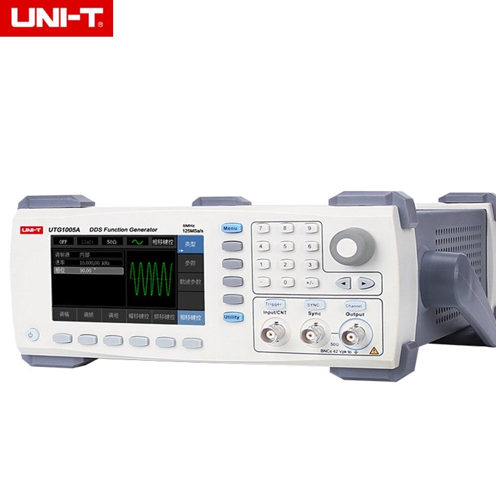 UNI-T UTG1005A función/generador de forma de onda arbitraria 1 canal 5 MHz ancho de banda 125 MS/s