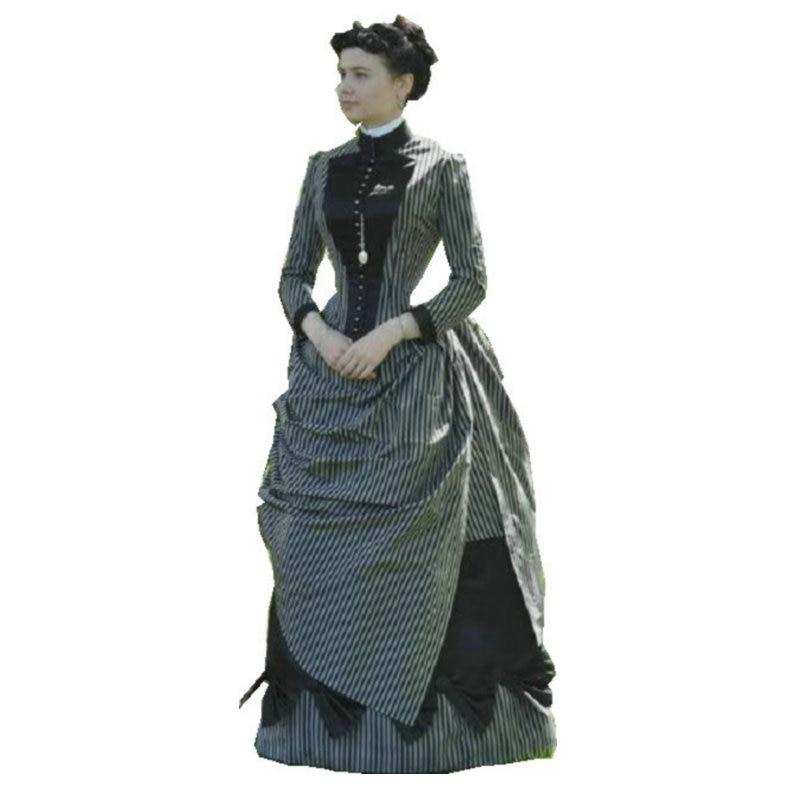 18 القرن الحرب الأهلية جنوب حسناء ثوب خمر اللباس/فساتين فيكتوريا/سكارليت اللباس US6-26 SC-819