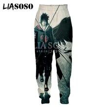 LIASOSO nuevo 3d imprimir hombres mujeres pantalones de chándal Japón Anime Naruto Uchiha Sasuke Uchiha Itachi pantalones para sudar informales Joggers pantalones X1138