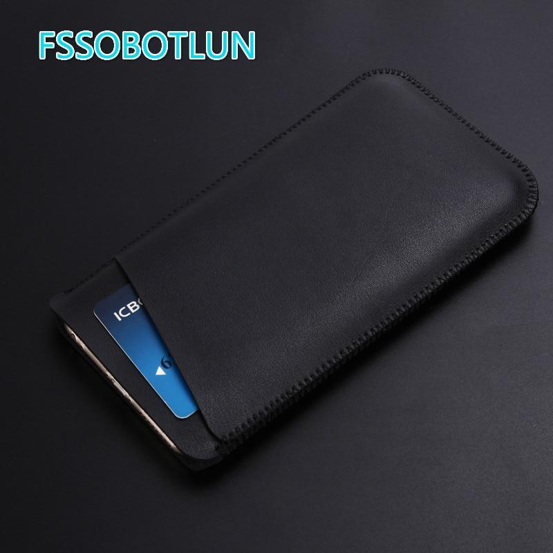 FSSOBOTLUN 2018 OUKITEL U25 Pro de lujo de alta calidad ultrafina de microfibra de manga de teléfono de cuero bolsa de caso de la cubierta