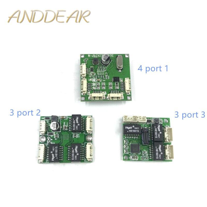 Мини-коммутатор, OEM-модуль, мини-порт 3/4/5, сетевые коммутаторы, печатная плата, мини модуль коммутатора ethernet 100 Мбит/с