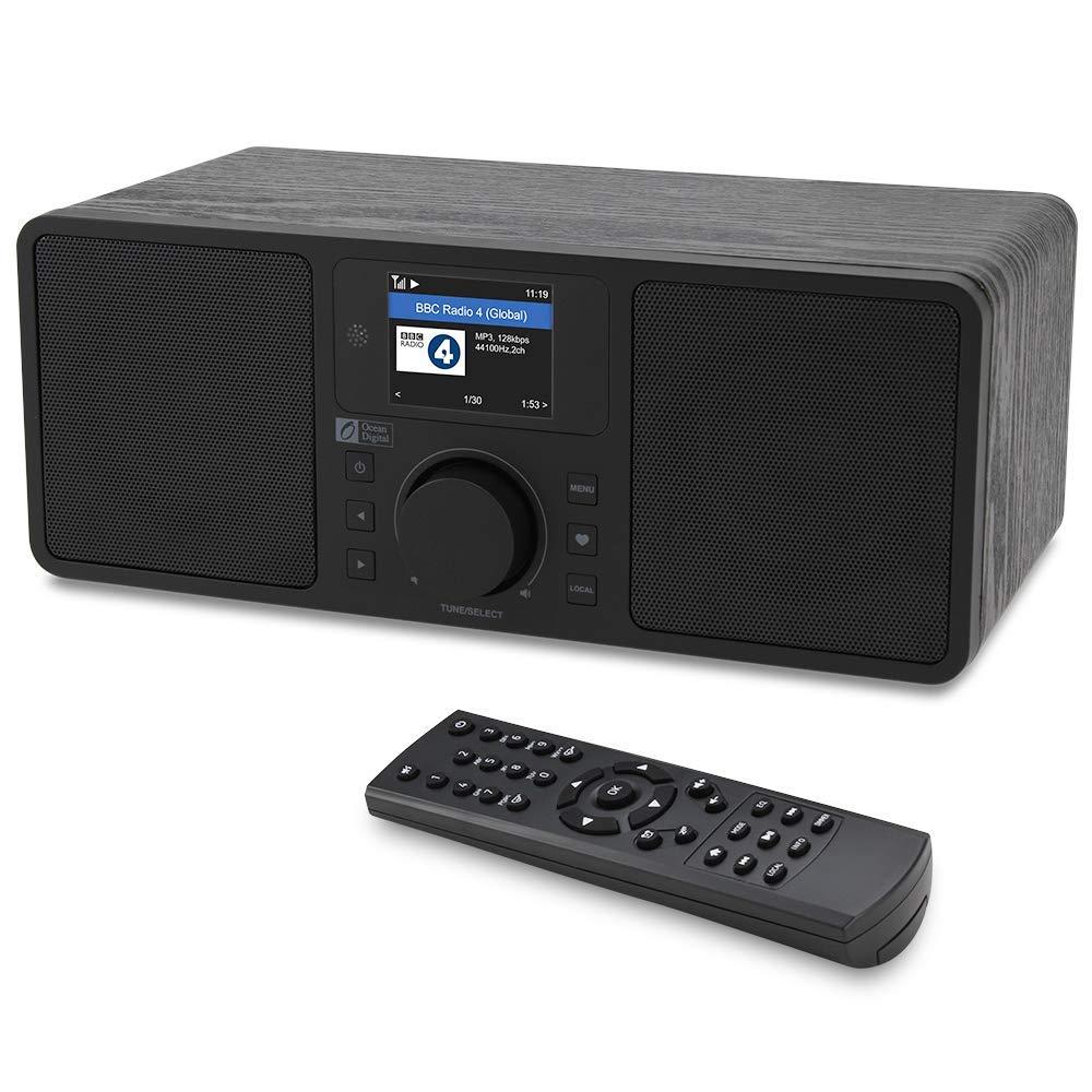 Ocean Digital WR230S WiFi/DAB +/FM/UPnP/DLNA радио Интернет Ethernet RJ45 стерео колонки Aux in Line out с Bluetooth