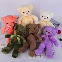 45cm plush toys 6 colors bow tie teddy bear kawaii plush toys girls kids birthday christmas gifts gifts creative dolls