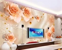 beibehang customize any size advanced wall paper atmosphere dream starlight rose tv wall background papel de parede 3d wallpaper