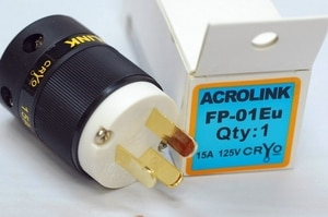 LN002373 Acrolink refrigeration Series FP-01 Speaker Cable Power Plug Adapter Male