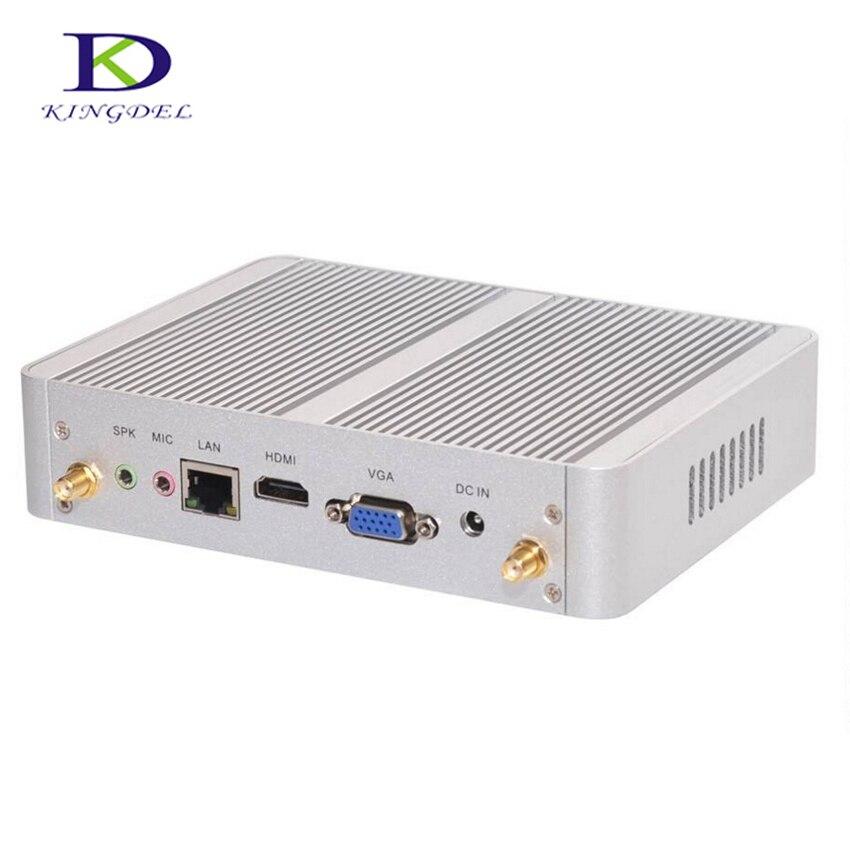 Mini PC Intel Nuc sin ventilador de escritorio HTPC con núcleo i3 4005U Dual Core,USB3.0,VGA,HDMI,WIFI, soporte de juego 3D, caja de TV de ordenador Nettop