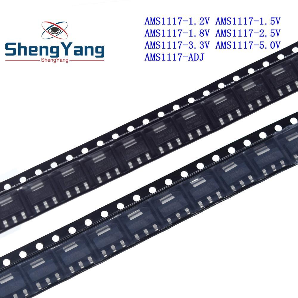 50 шт. серии AMS1117 AMS1117-3.3V AMS1117-ADJ AMS1117-1.8V AMS1117-1.2V AMS1117-5.0V AMS1117-2.5V AMS1117-3.3 AMS1117-5.0