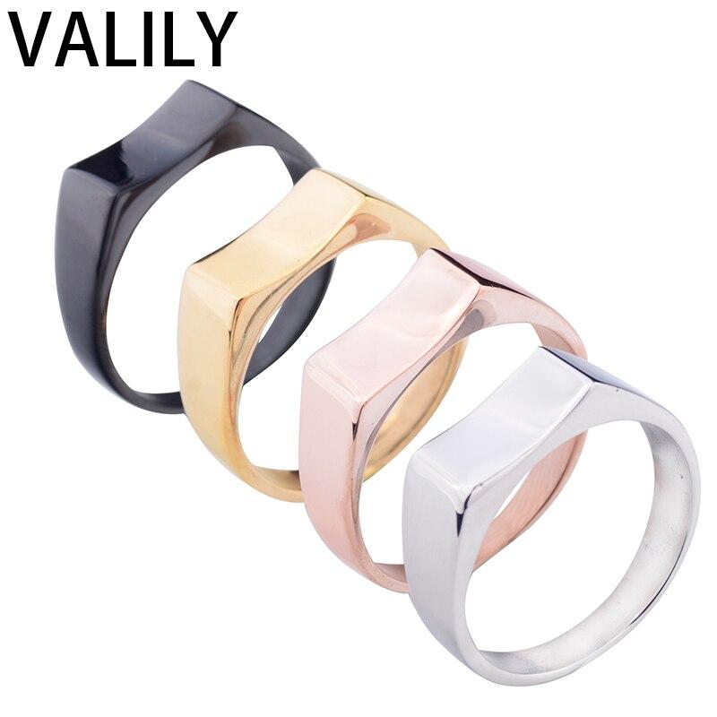 EdgLifU, anillo para hombre, novedad de 2017, anillos negros para uso diario, anillos clásicos de acero inoxidable de Color negro para hombre, anillos para fiesta