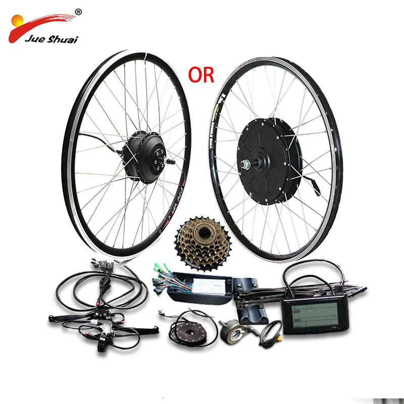 48V 500W 1000W Kit de conversión de bicicleta eléctrica para 20