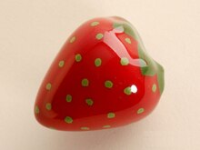 UNILOCKS 6 Pcs  Kids  Room Ceramic Modern Strawberry Kitchen Handle Drawer Knobs(Sizer38*31mm)