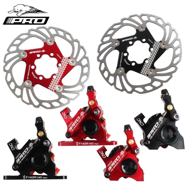 IIIPRO bicicleta de carretera línea de mano tirando de la pinza de freno de disco bilaterales mecánica de Clip de Cable de los frenos de disco de bicicleta abrazaderas