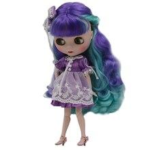 Blyth בובת BJD, Neo Blyth בובת עירום מותאם אישית חלבית פנים בובות יכול לשנות איפור ושמלה DIY, 1/6 כדור מפרקים בובות SO12