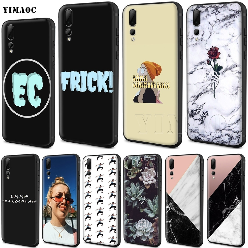 YIMAOC Emma Chamberlain Silicone Case for Huawei Honor Mate P smart Y7 Y9 8C 30 20 10 8x Nova 3i 3 Lite Pro Prime 2018 2019