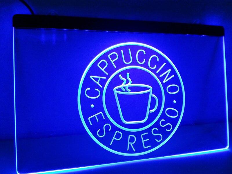 LB329-taza de café expreso capuchino letrero de neón con luz LED manualidades decorativas para el hogar