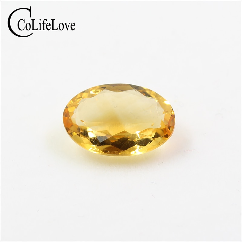 Piedra preciosa suelta de citrina natural de 10mm x 14mm, joyería DIY, piedra preciosa auténtica citirne