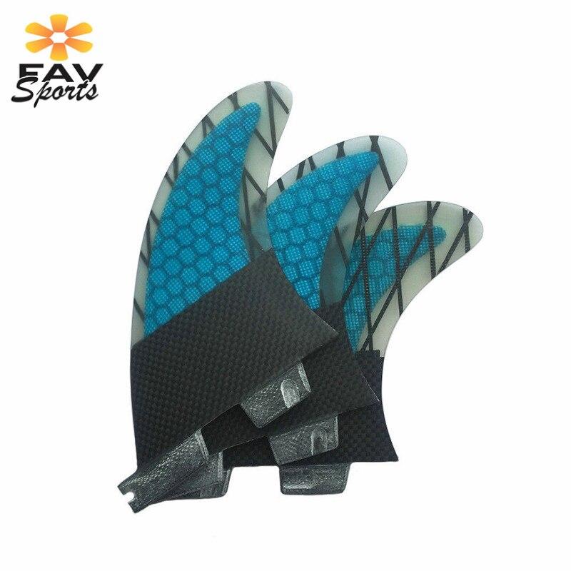Aletas de fibra de vidrio de alta calidad, aletas de tabla de surf de nido de abeja Fcs G7, aletas de tabla, tamaño L 3 unids/set