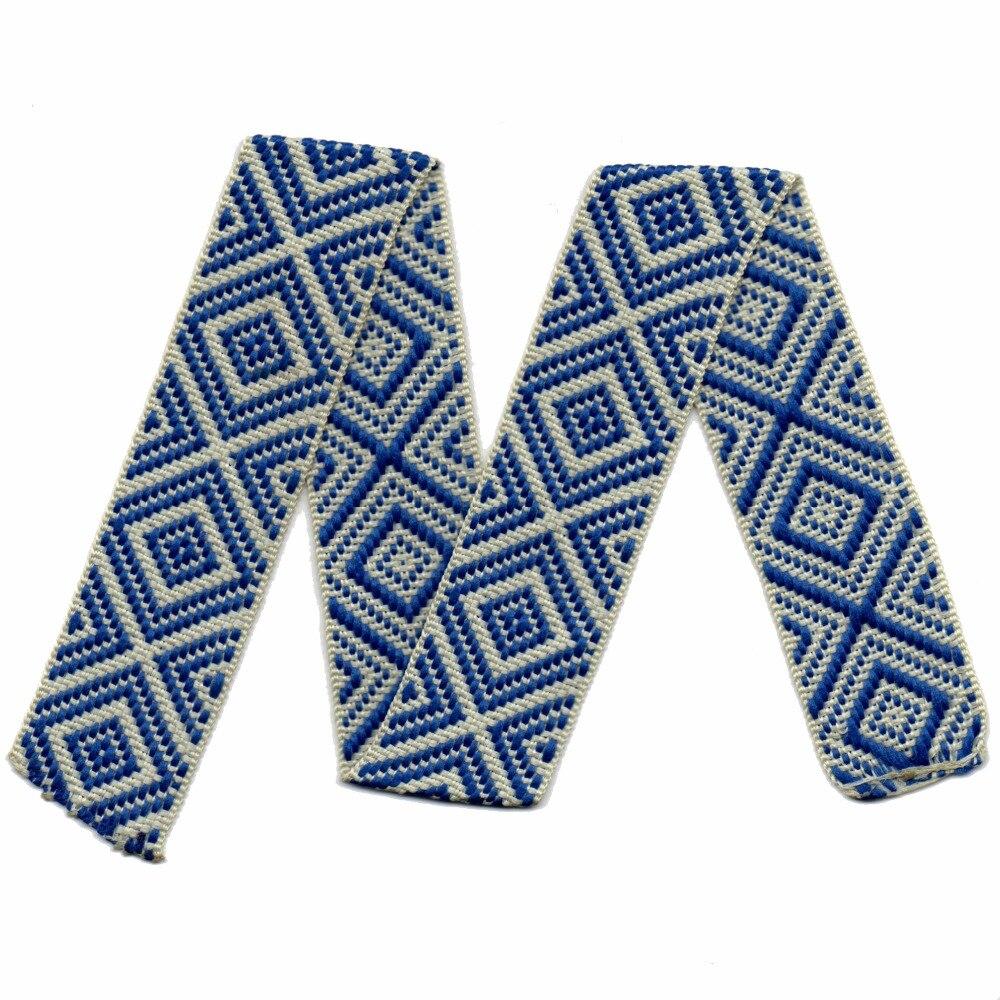 ZERZEEMOOY-ruban géométrique bleu   Style 1-1/4