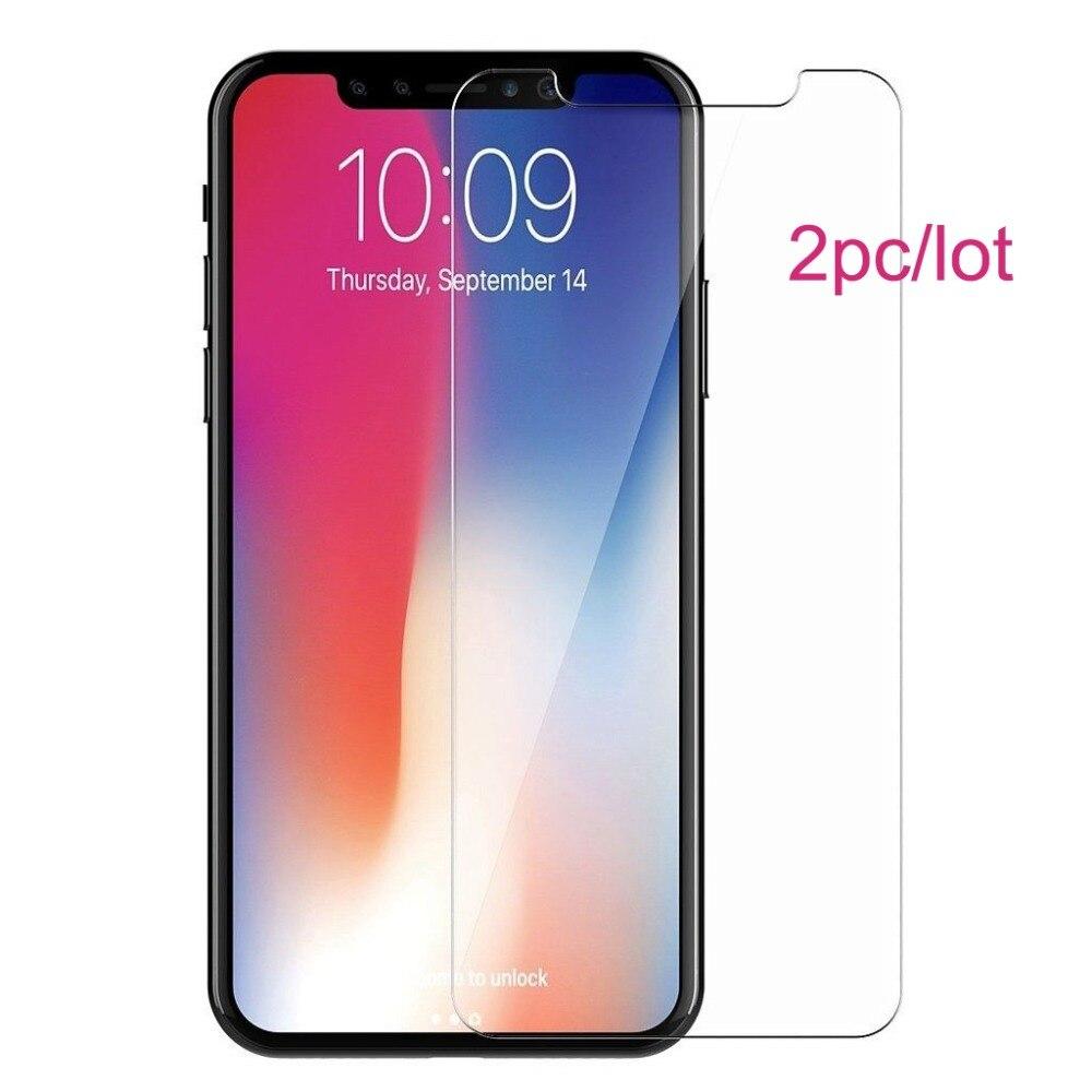 Magtim 2 unids/lote de vidrio templado transparente HD para iPhone 8 7 plus 6 6s, película protectora 2.5D 9H, vidrio para iPhone X XS MAX XR pantalla