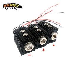 Bricolage 650nm 5mW point rouge/ligne/croix laser module tête lentille en verre mise au point réglable laser positionnement avec dissipateur de chaleur