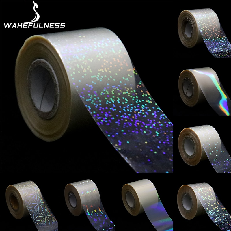 1Roll Holographic Starry Sky Nail Foils Transparent Laser Point Nail Art Transfer Stickers Decals Manicure Decorations all 3d laser holographic nail stickers for nails manicure nail art decals stickers decor decorations things