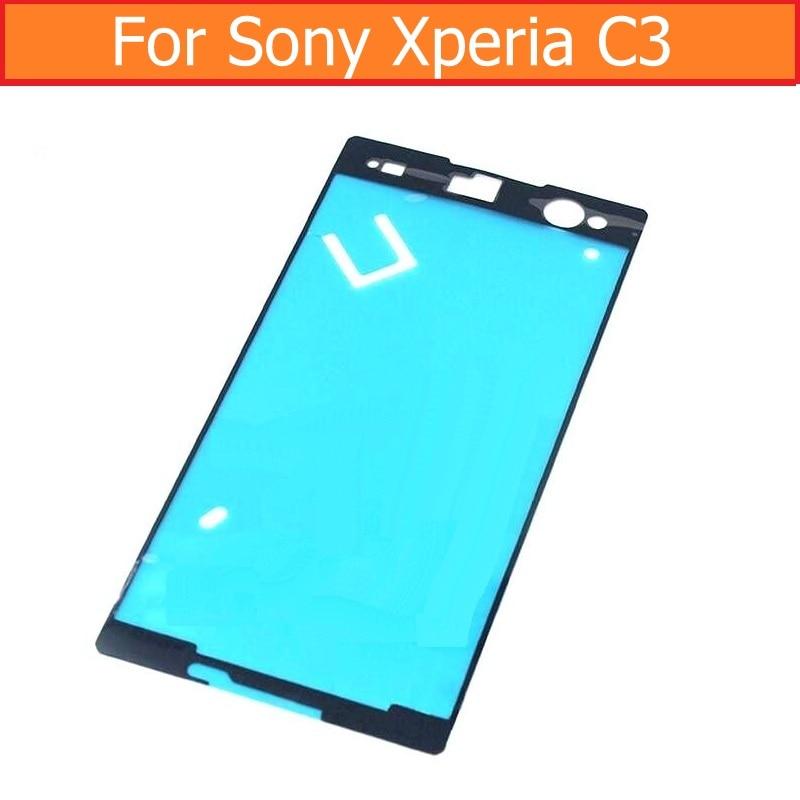 Exibição original fita adesiva para sony xperia c3 s55t s55u d2502 d2533 impermeável cola fita para sony c3 quadro de tela 3m adesivo