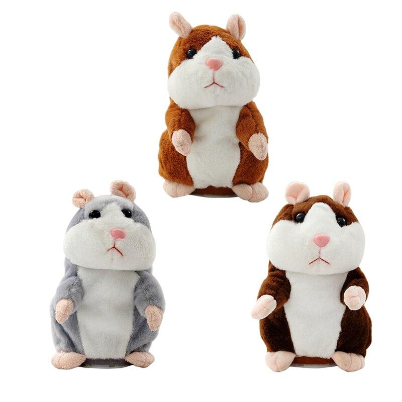 Falando soando gravação brinquedo de pelúcia hamster repete o que você diz coisas de pelúcia hamster animal boneca brinquedos para o presente do bebê